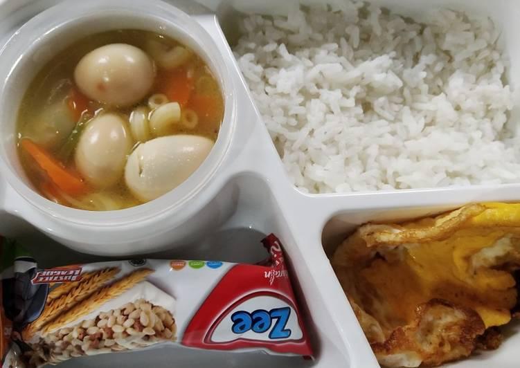 Sop telur puyuh #harianaknasional2019