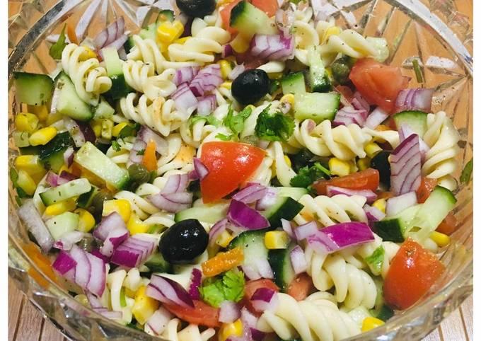 🌈Rainbow Pasta salad: