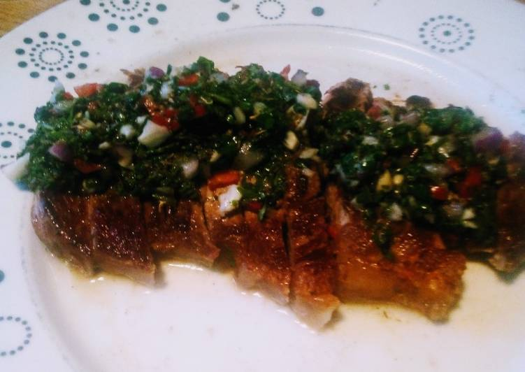 Sirloin Steak with Chimichurri dressing