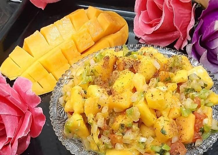 Grilled Mango salsa�平�平