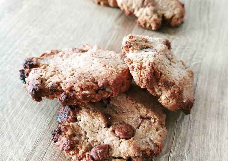 La Meilleur Recette De Cookies châtaigne chocolat sans lactose sans gluten