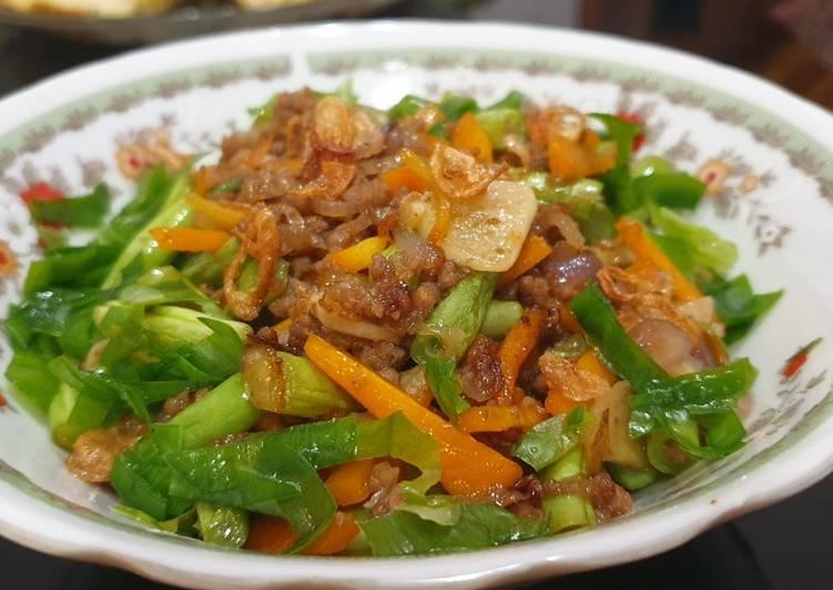 Tumis Sayuran Daging Giling
