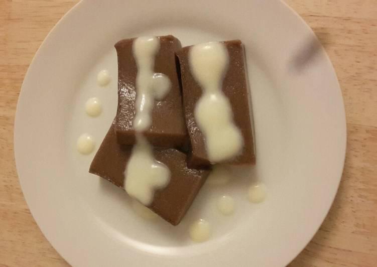 Puding Roti Coklat Saus Vanilla