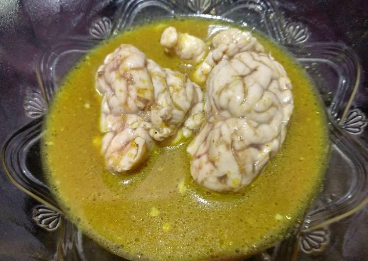 Gulai otak kambing yahud