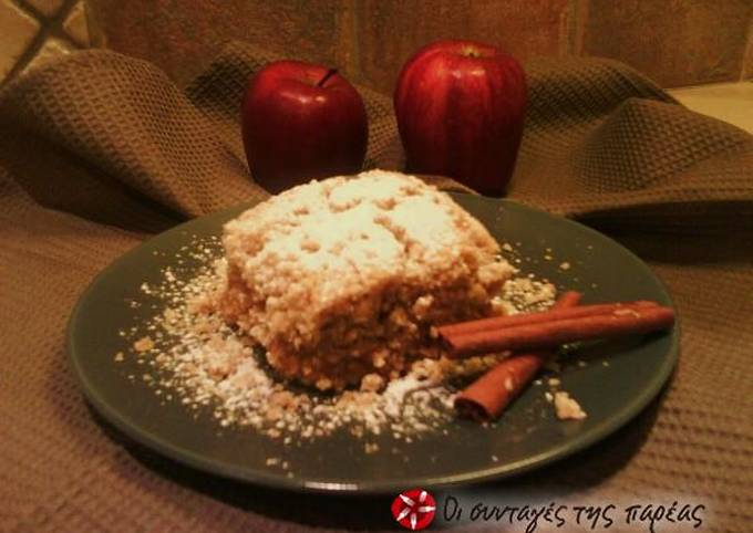 How to Make Tasty Easy apple crumble pie with olive oil and wholemeal flour
