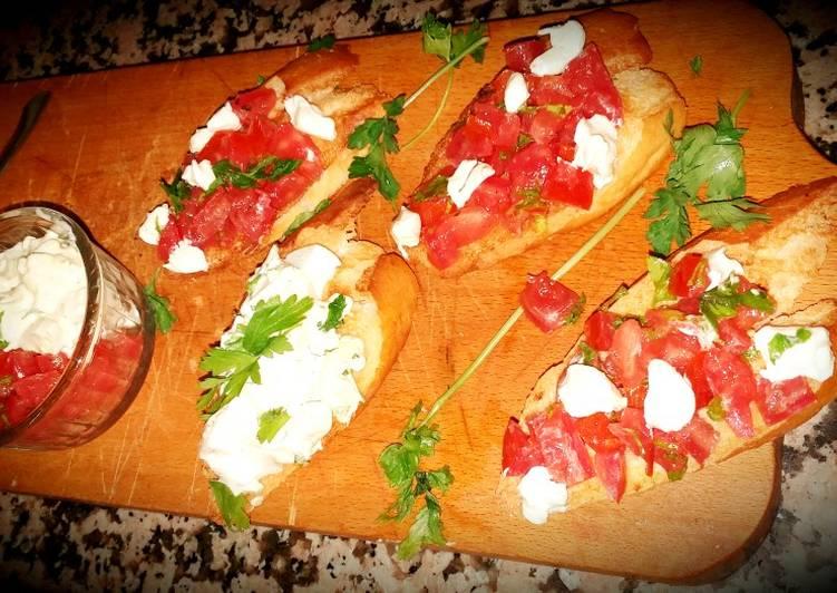 Recipe of Top-Rated Italian tomato bruschetta