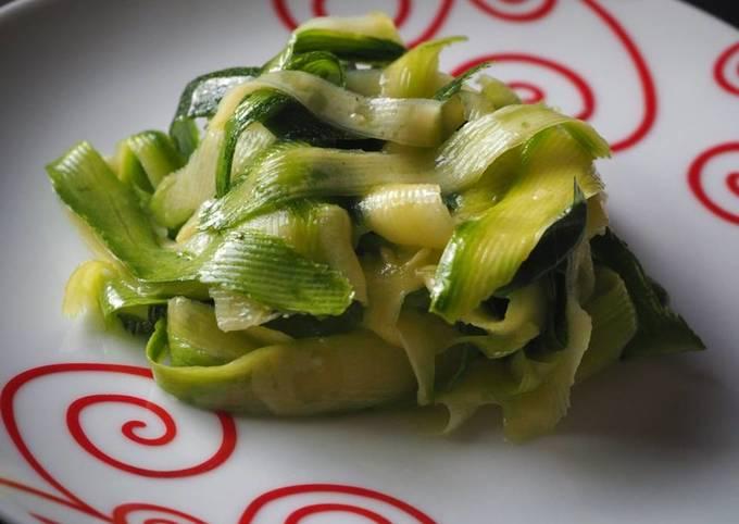 Tagliatelles de courgettes en salade !