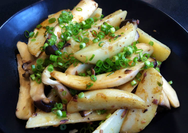Potato & King Oyster Mushroom with Garlic Anchovies