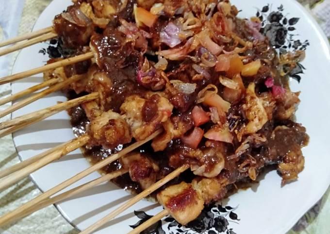 Resep Sate ayam bumbu kacang Anti Gagal