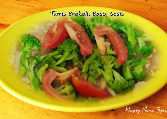 Resep Tumis Brokoli, Baso, Sosis, Lezat