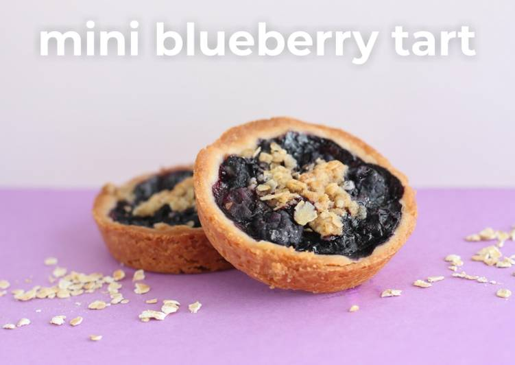 Mini Blueberry Tart [using muffin tin]