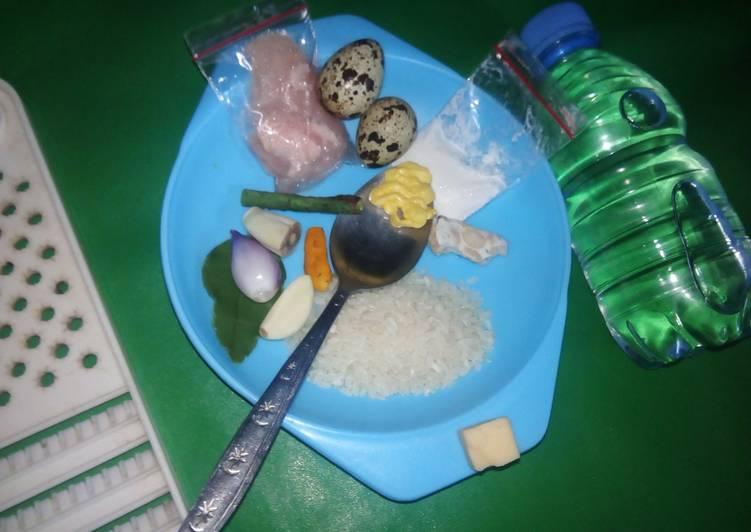 Cara mudah membuat MPASI baby 6 bulan opor ayam telur puyuh