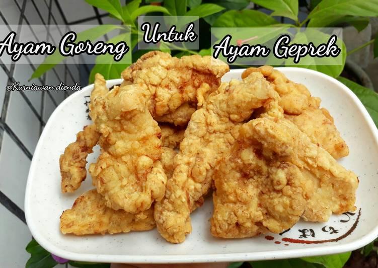 Ayam goreng (untuk ayam geprek)
