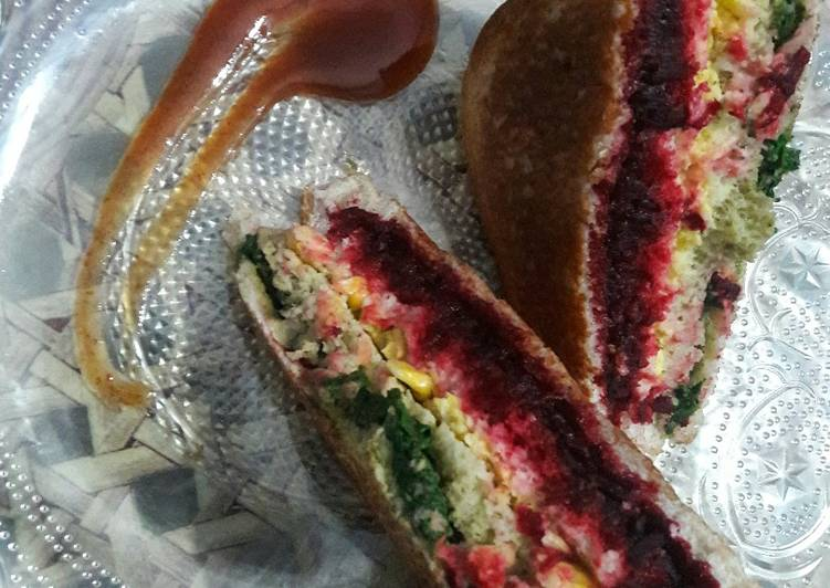 Foods That Can Make You Happy Rainbow sandwich