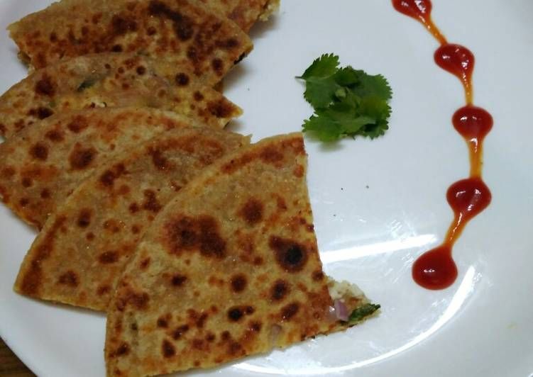 The Best Soft and Chewy Dinner Easy Spring Delicious paneer paratha