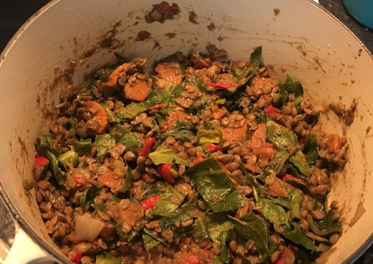 Green lentil curry for babies & adults