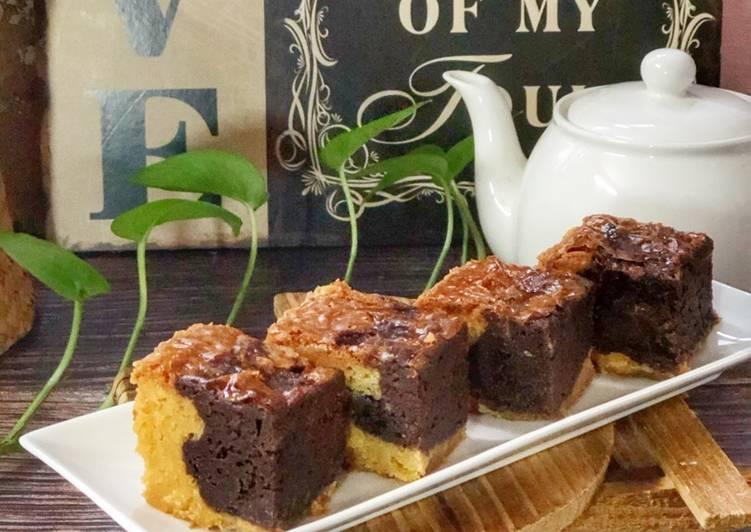 Brownies Coklat Putih