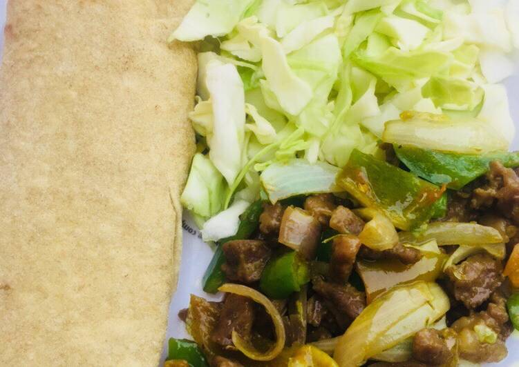 Homemade Flour Tortillas And Beef Fajitas