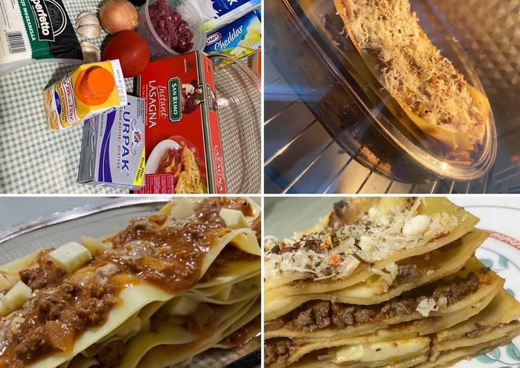 Beef Lasagna with Mozzarella Cheese