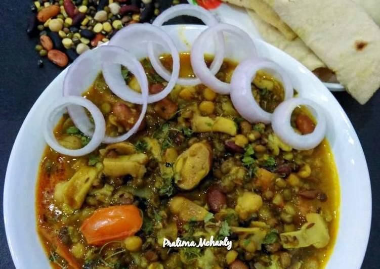 Mushroom Mixed Dal Tadka