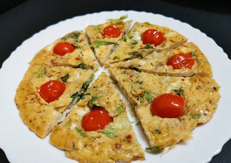 Simple Way to Make Super Quick Homemade Simple Egg Frittata Italian breakfast Brunch