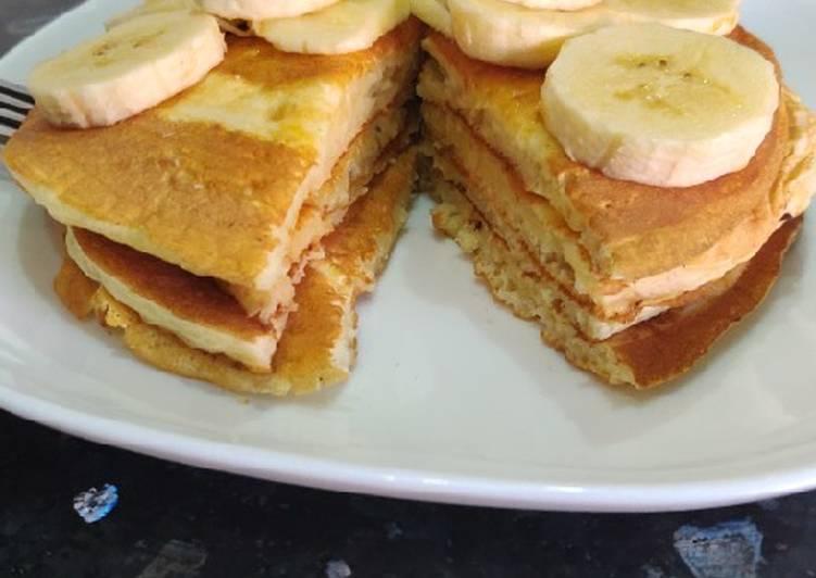 Comment faire Cuire Appétissante Pancakes aux flocons d'avoin🥞