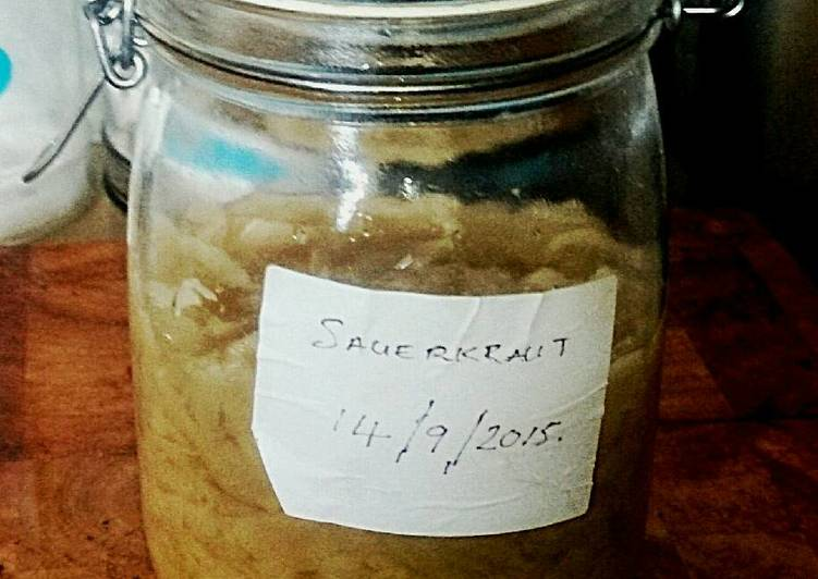 Easiest Way to Make Delicious Tex's Small Batch Sauerkraut