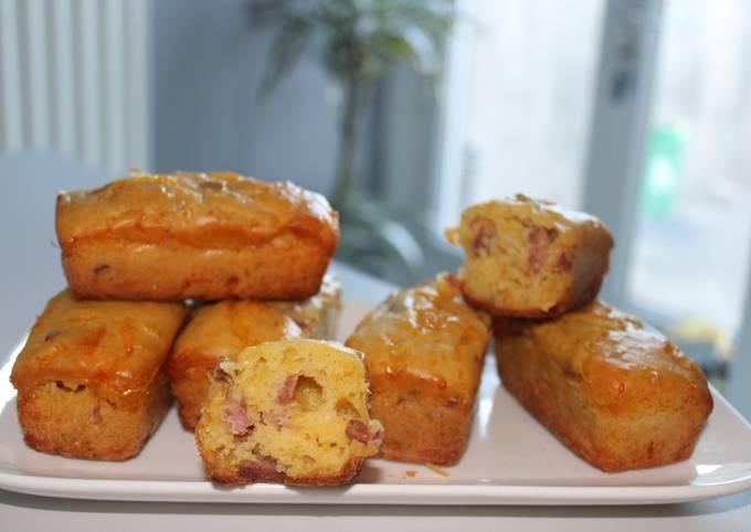 Minis cake salés « Cheddar-Bacon »
