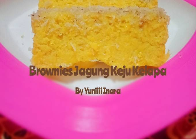 Brownies Jagung Keju Kelapa