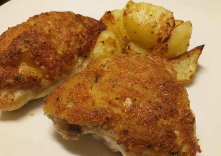 Fluffy's crispy gratin roast