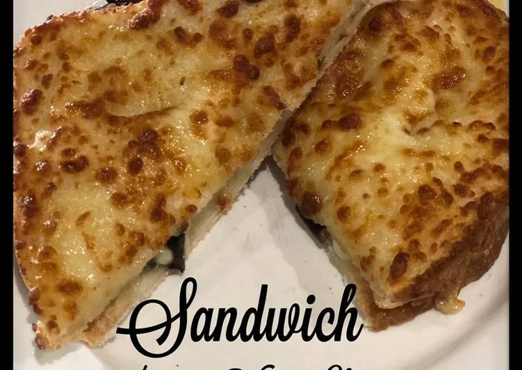 Sandwich Sehat (Jamur + Vegan Cheese)