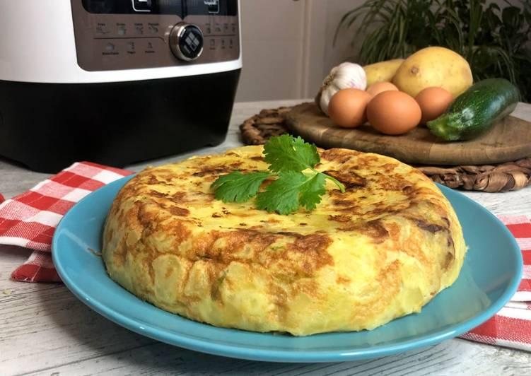 Tortilla de patata y calabacín en olla FussionCook FC7Smart