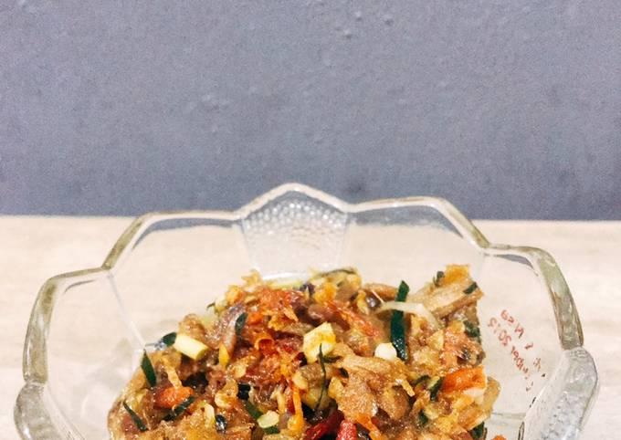 Sambal Mertua (sambal teri daun jeruk serai)
