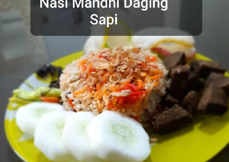 Nasi Mandhi Daging Sapi (bumbu instant)