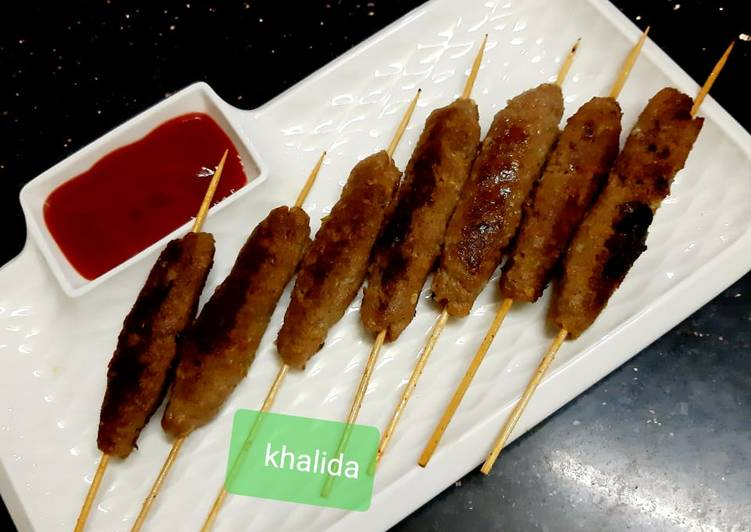 Spicy beef kabab sticks