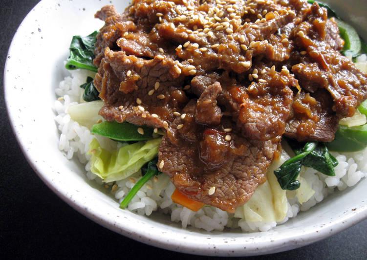 'Jingisukan' Lamb Rice Bowl