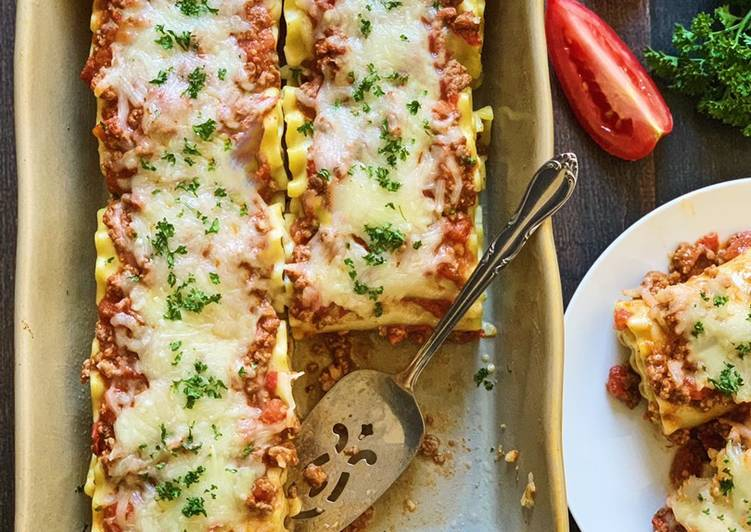 Easy Lasagna Rolls Up