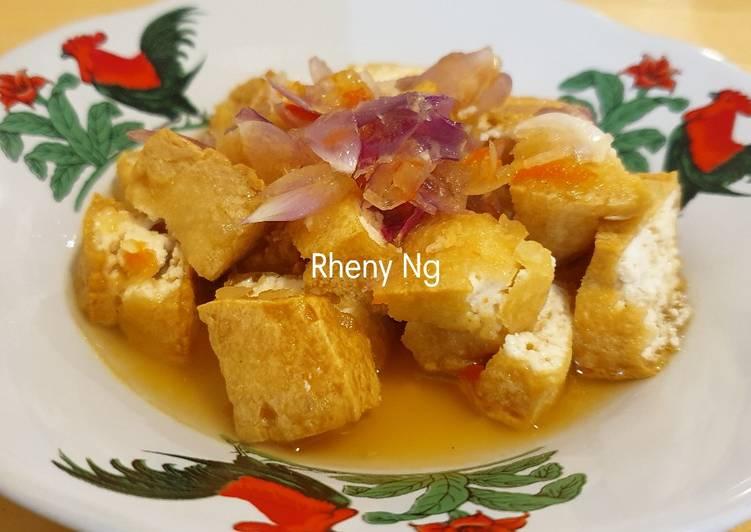 Tahu Gejrot (Alternatif tanpa gula merah & asam jawa)