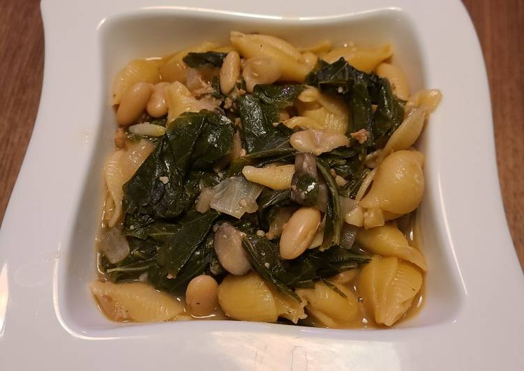Step-by-Step Guide to Make Homemade Cannellini & Collards Pasta (Vegetarian)