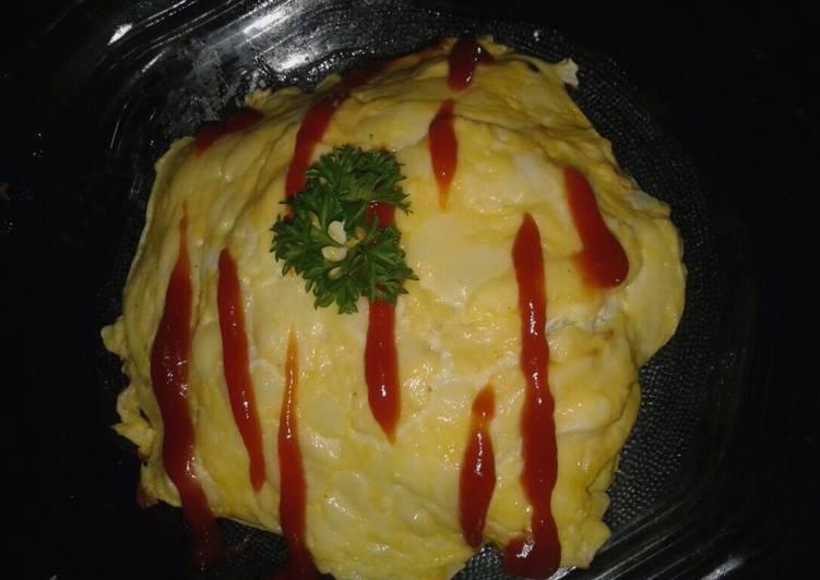 Resep Omurice🍚 (nasi goreng ala 🇯🇵) Paling Enak