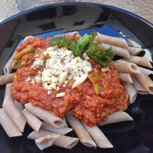 Boloñesa vegetal de espelta fácil fácil
