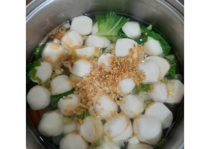 Resep Sup Bakso Ikan Anti Gagal