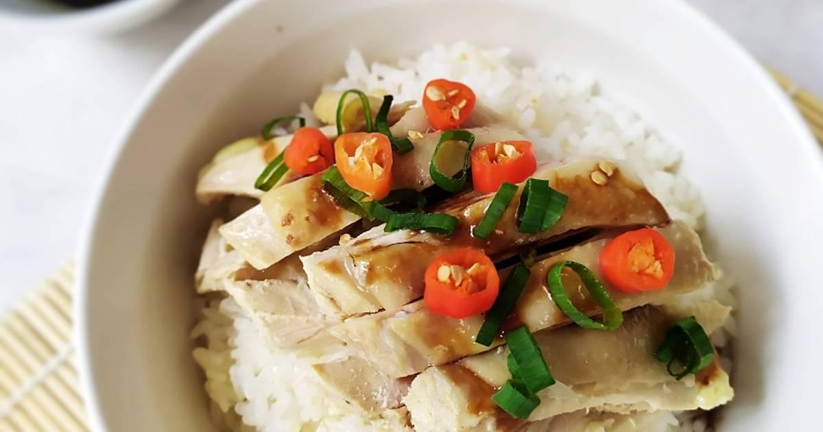 Resep SCALLION OIL CHICKEN RICE (Nasi Ayam Minyak Daun Bawang) oleh ricke a  - Cookpad