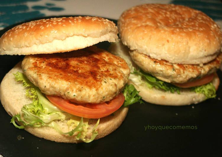 recetas hamburguesas de pollo dieta