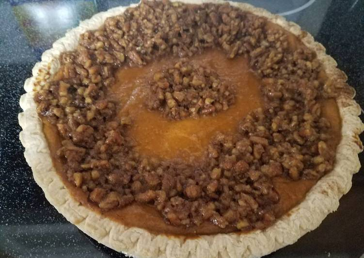 Recipe: Tasty The best sweet potato pie with pecan topping