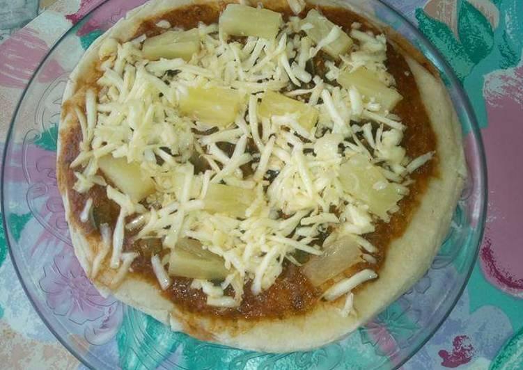 Easiest Way to Make Favorite Cheesy pineapple pizza.#BakingForKids