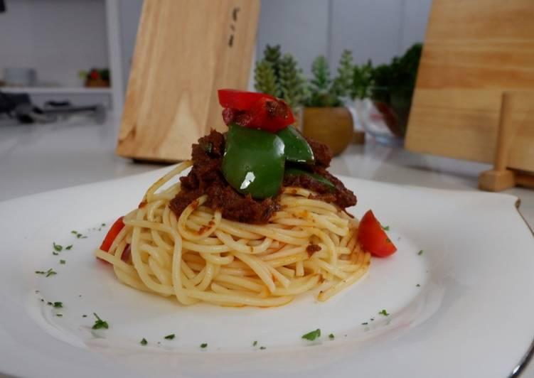 Spaghetti Rendang Ala Chef Laura