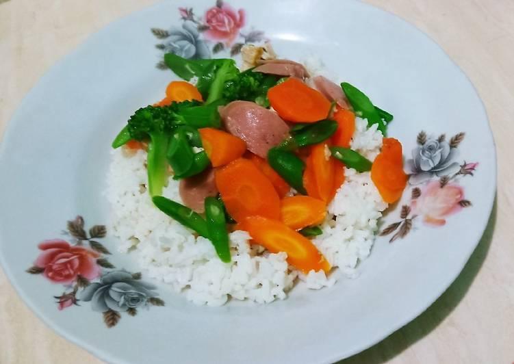 Tumis sayur brokoli wortel sehat & enak