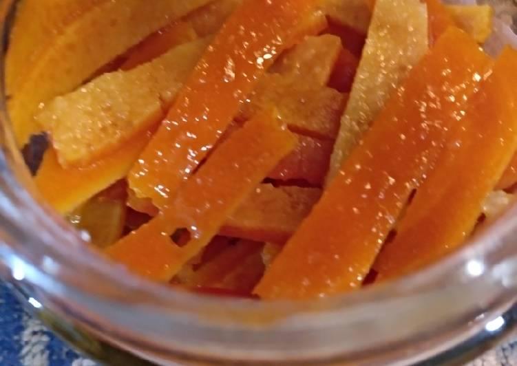 Piel De Naranja Confitada En Almíbar Receta De Doloresgomezgarcia Cookpad