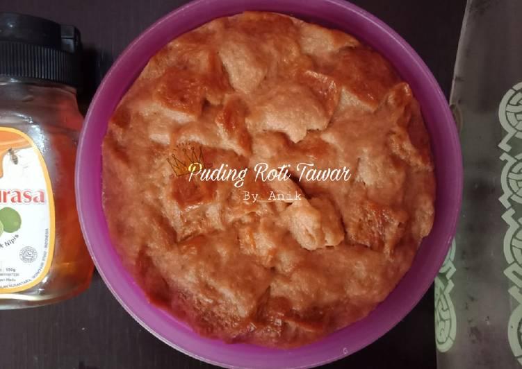 Puding roti tawar (kukus)